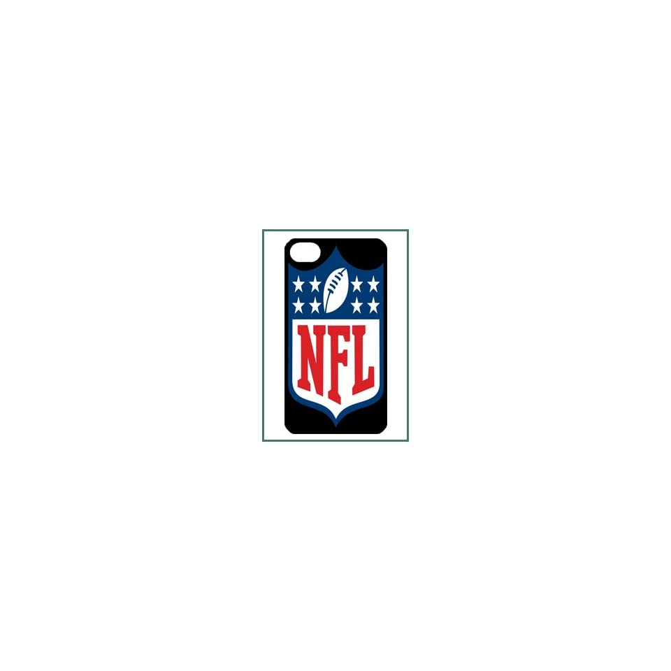 NFL National Football League American iPhone 4 iPhone4 Black Designer Hard Case Cover Protector Bumper