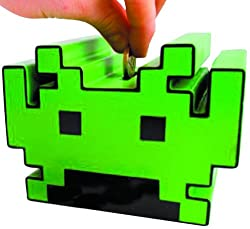 50Fifty Space Invaders Money Box Coin Bank
