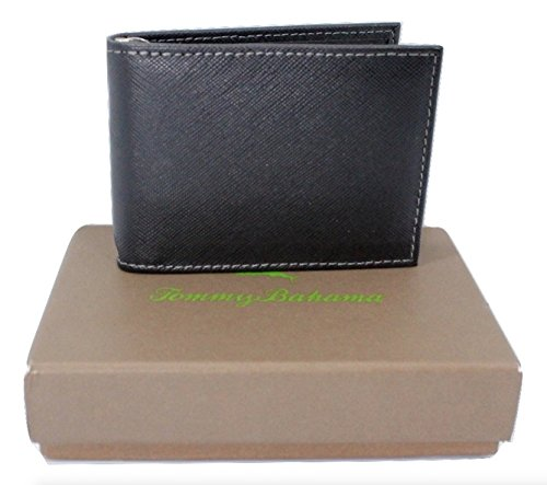 Tommy Bahama Sorrento Interior Money Clip Wallet, Black with Gift Box (Tommy Money Clip compare prices)