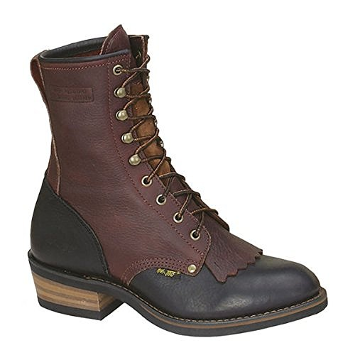 AdTec Mens 9in Western Packer Boots Tumble Two Tone Size 10