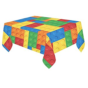 Unique Debora Custom Tablecloth Cover Cotton Linen Cloth Lego Pattern For Dining Room, Tea Table, Picnics, Parties DT-2