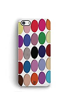 YuBingo Colourful Circles Pattern Mobile Case Back Cover for Apple iPhone 5