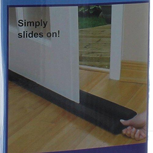 Dual draft blocker twin breeze stopper door and window 2 pack hardware insulation insulation - Dog door blocker ...