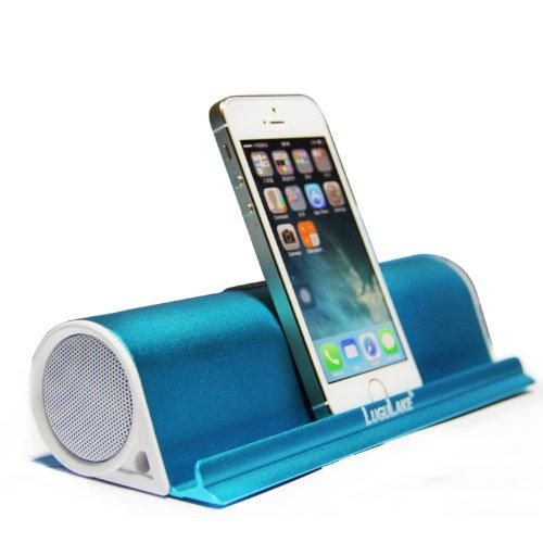 lugulake portable bluetooth speaker stand wireless stereo speaker built in aux port blue. Black Bedroom Furniture Sets. Home Design Ideas