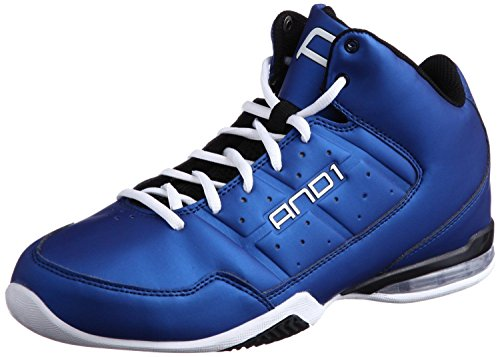 AND1 Mens Master Mid Royal/Black Sneakers 6.5 D - Medium