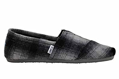 m0261f toms shoes mens classics plaid slip