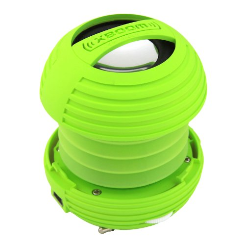 Xboom Mini Portable Capsule Speaker With Rechargeable Battery And Enhanced Bass+ Resonator - Green