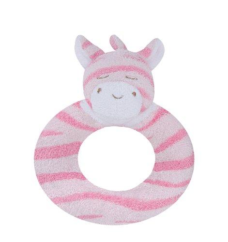 Angel Dear Ring Rattle, Pink Zebra