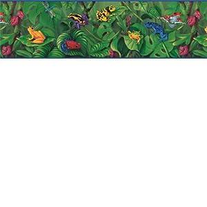 Rainforest Frogs Wallpaper Border - - Amazon.com