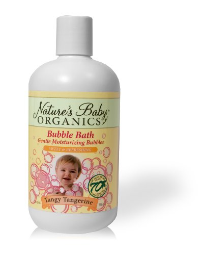 Nature's Baby Organics Bubble Bath, Tangy Tangerine, 12-Ounce Bottles (Pack of 2)