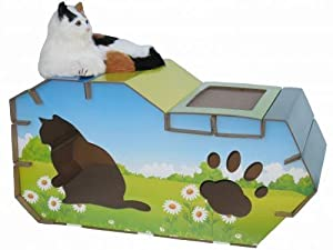 Go Pet Club CP-007 House Style Cat Scratcher Board with Catnip