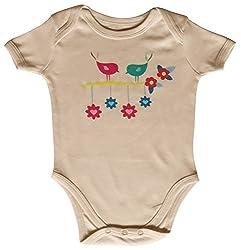 Kothari Unisex Kids' Regular Fit Romper (GBDS659_Peach_9-12 M, Orange, 6-12 Months)