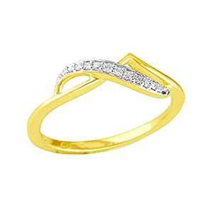 Gili Women Girls Ring LRM 399 Gold White