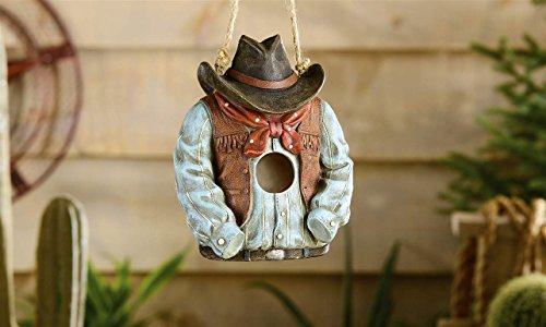 Gift craft polystone western hat and shirt birdhouse home for Gift craft home decor