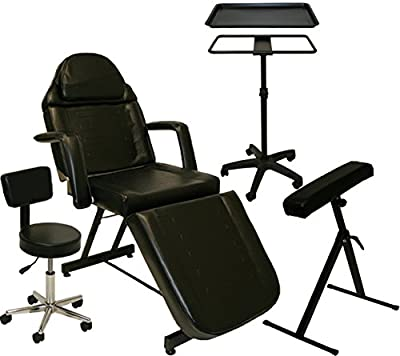 Inkbed Tattoo Package Massage Table Chair Arm Bar Ink Bed Tray Studio Salon Equipment