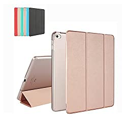 "iPad Air 2 Case, MTRONXâ""¢ Smart Cover Case Lightweight Ultra Slim Fit Folio Protective Cover Stand with Magnetic Auto Wake & Sleep for Apple iPad Air 2 (iPad 6th Generation) - Rose Gold(FB-RG)"