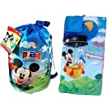 Disney Mickey Mouse Donald Duck Slumber Sleeping Bag with Bonus Backpack
