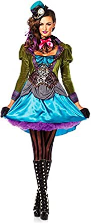 Leg Avenue Womens Deluxe Mad Hatter Adult Costume