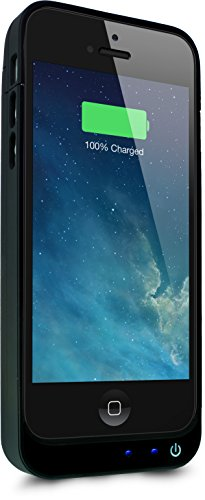 PowerBear® Stamina Series iPhone 5S, iPhone 5C, iPhone 5 Extended Rechargeable Battery Power Case with Built in PowerBank - Black  comes with Free Screen Protector