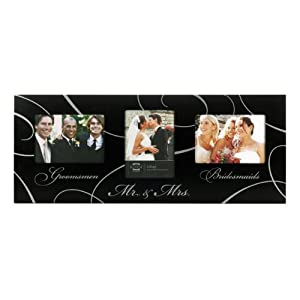 Prinz Mr. And Mrs. 3-Opening Collage Frame for 5-Inch by 7-Inch Photos