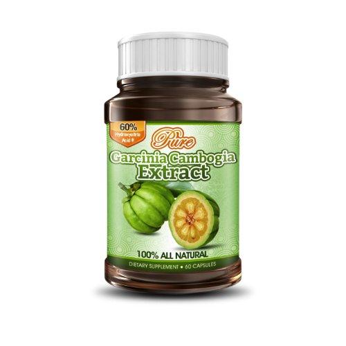 ピュア・ガルシニア・カンボジア、HCA60%入り | アメリカ製 | 100%自然原料を使ったダイエット・サプリメント 1ボトル