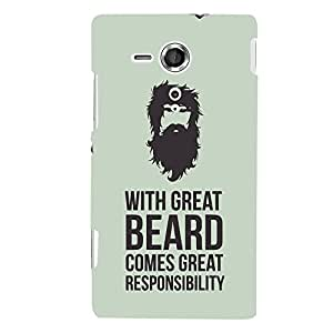 ColourCrust Sony Xperia SP Mobile Phone Back Cover With Beard Quote Quirky - Durable Matte Finish Hard Plastic Slim Case