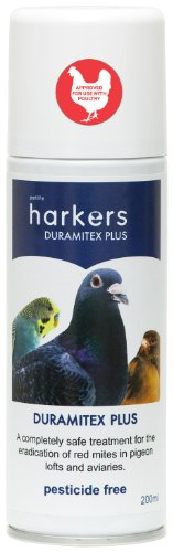 Cheap Harkers Duramitex Plus Petlife Red Mite Spray For Pigeon/ Cage/ Aviary Bird, 200 Ml (DUR200)