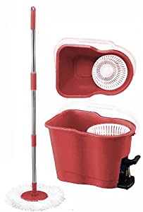MopAway Dry/Wet Microfiber Super Absorbent Floor Mop with Bucket, Burgundy at Sears.com