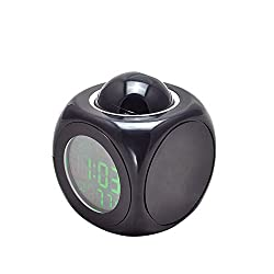 Denshine® Multifunction Vibe LCD Voice Talking Projection Time Temp Display Alarm Clock