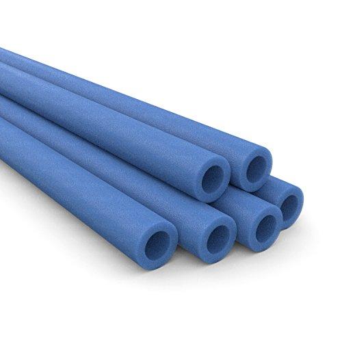 6 x Ersatz Schaumpolster für 3 Netzpfosten, blau
