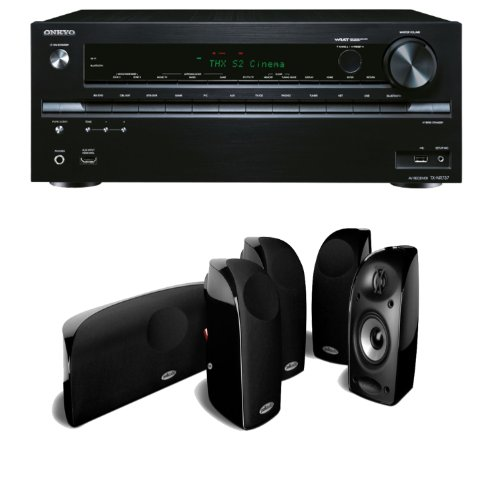 Onkyo Tx-Nr737 7.2-Channel Network A/V Receiver Plus A Polk Audio Tl250 High Performance Home Theater Speaker System