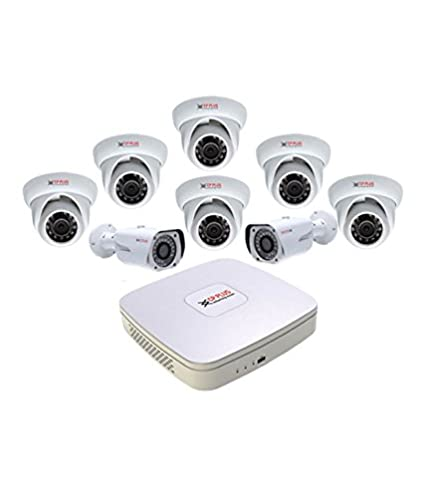 CP PLUS CP-HDCVI 8CHD-8IRD 8Channel DVR + 8 Dome IR CCTV Camera