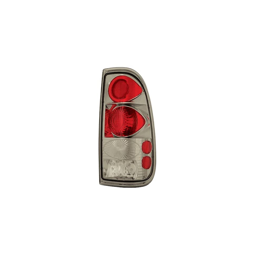 Ford Super Duty 2008 2009 Tail Lamps, Crystal Eyes Platinum Smoke Styleside 1 pair