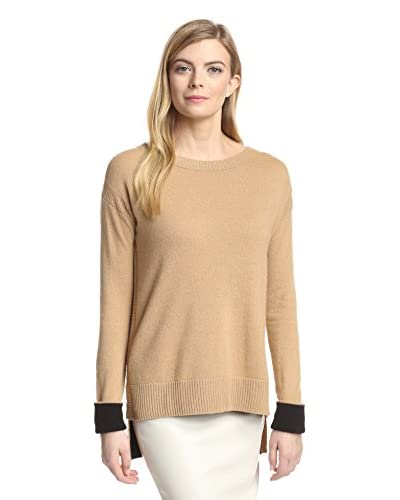 Magaschoni Women's Cashmere Tunic with Reverse Cuffs