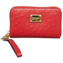 MICHAEL Michael Kors Essential Zip Wallet for Apple iPhone in Red