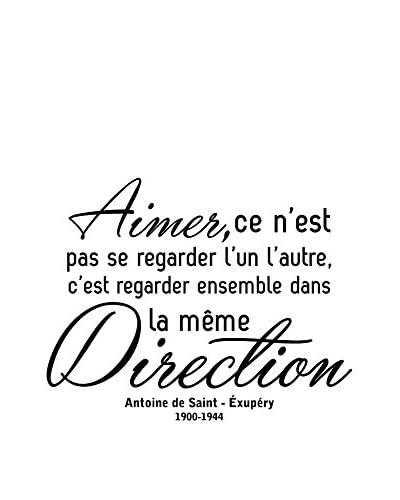 ZZ-Ambiance-sticker Vinilo Decorativo French Quote Aimer C'Est Regarder Ensemble Dans La Même Direct...