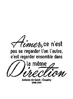 ZZ-Ambiance-sticker Vinilo Decorativo French Quote Aimer C'Est Regarder Ensemble Dans La Même Direction