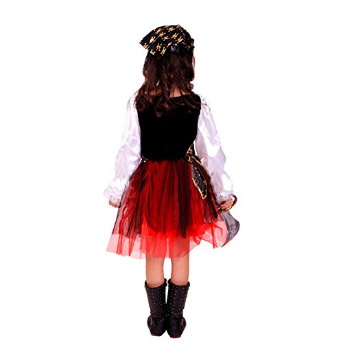 Deguisement enfant costume halloween fille robe pirate des caraibes rouge your 1 source for - Deguisement halloween enfant fille ...