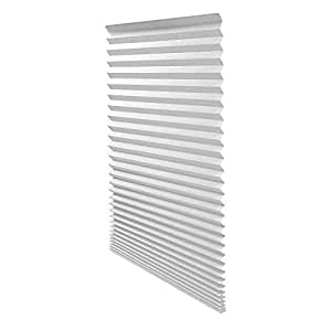 "Quick Fix Light Filtering Pleated Paper Shade White, 36"" x 72"", 6 Pack"