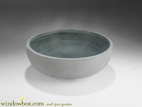 Orinoco 30 Inch Bowl Planter - Weathered Concrete