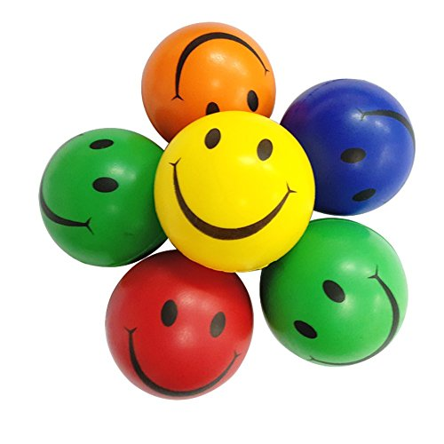 Mini-Happy-Smile-Face-Soft-Stress-Squeeze-Balls-Toy-Game-for-Toddlers-Kids-Girl-Boy-Party-Favors-Fun-Sports-Ball-Toys-Play-Pack-of-6-Color-Vary