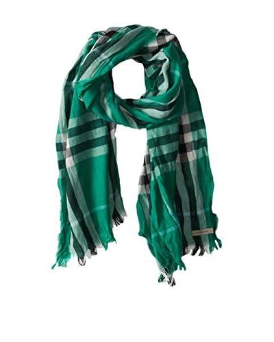 Burberry Women's Check Scarf, Green Check