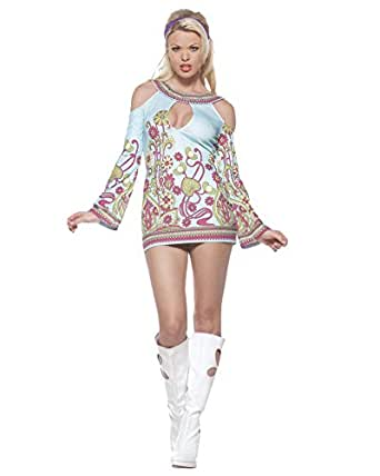 Amazon.com: Sexy Open Shoulder Hippie Dress 60s 70s Retro
