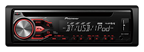 Pioneer DEH-4800BT SintoCD USB con Bluetooth e Compatibilità AOA 2.0, Controllo iPod/iPhone e Display Bianco