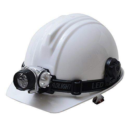 LEDヘッドライト付ヘルメット【災害時の備えに】 白 HRH02-W