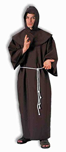 Enimay Men's Super Deluxe Monk Robe Halloween Costume Adult Size