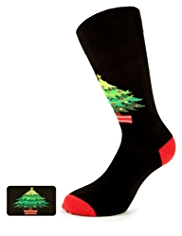 Cotton Rich Christmas Tree Socks