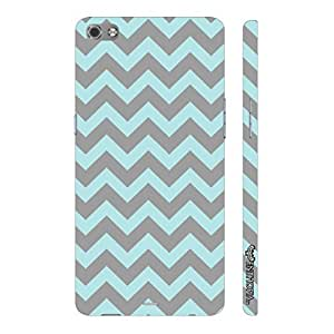 Micromax Canvas Sliver 5 Q450 GLOOMY CHEVRON designer mobile hard shell case by Enthopia