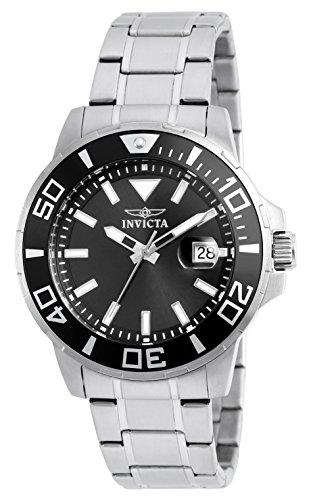 Passeggeri roll 21586 orologio da uomo da donna con inserti grigi Display analogico e in acciaio inox, color argento