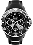 Ice Watch Ice Sporty Chrono Black and White Men's  Quartz Analogue Watch with Black Dial and Black Silicone Bracelet SR.CH.BKW.BB.S.15
